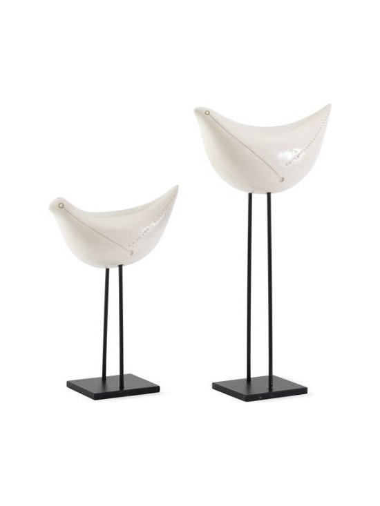 Bitossi - Bitossi Pair of Birds - I love the sleek lines of these sculptures that are a modern take on the bird. They almost evoke their own personalities.