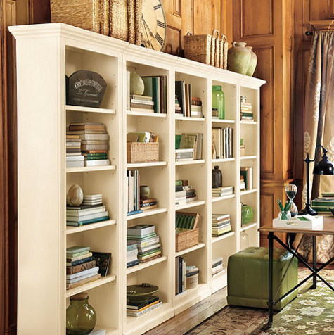 Tuscan Flush Bookcases - Set of 5 traditional-bookcases