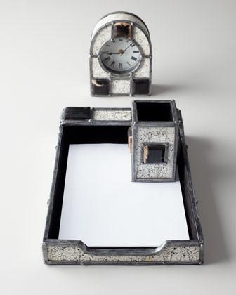 Janice Minor Eggshell Desk Blotter traditional-desks
