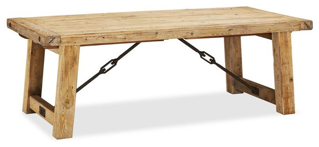 Benchwright Reclaimed Wood Extending Dining Table Wax  : contemporary dining tables from www.houzz.com size 640 x 296 jpeg 37kB