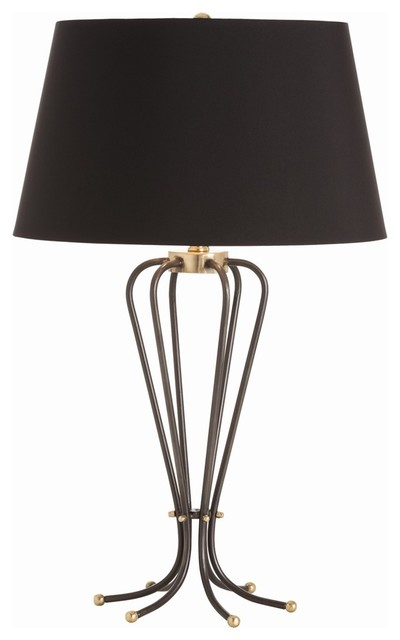 Clara Natural Iron/Brass Lamp contemporary-table-lamps