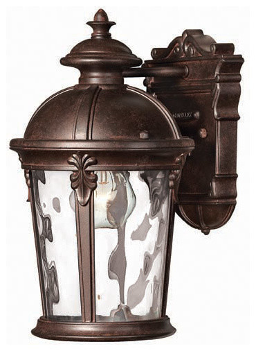 Hinkley Lighting 1890RK Windsor River Rock Outdoor Wall Sconce traditional-outdoor-wall-lights-and-sconces
