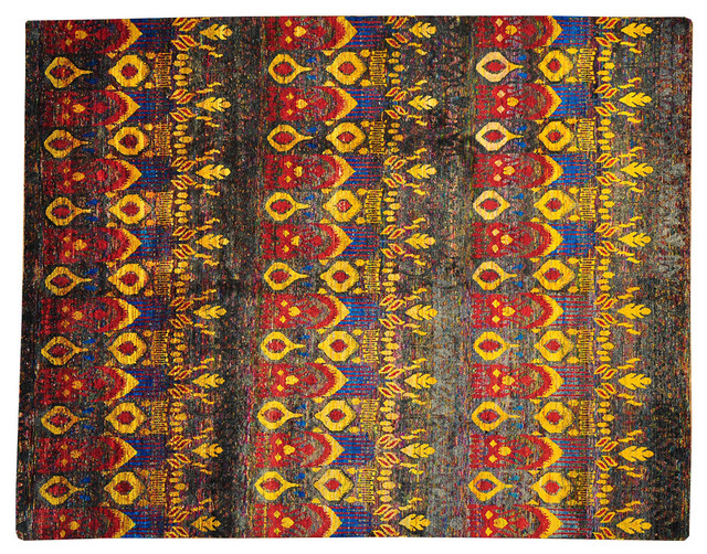 Oriental Rug Modern Sari Silk Hand Knotted Rug Colorful Sh13503 modern-rugs