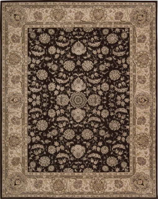 """Traditional Nourison 2000 5'6""""x8'6"""" Rectangle Espresso Area Rug traditional-rugs"""