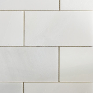 "3""x6"" Thassos White Large Brick Pattern Natural Stone Mosaic contemporary-tile"