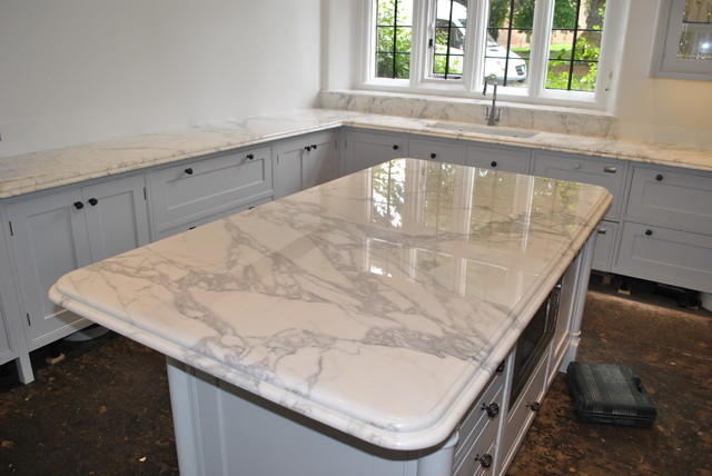 Marble Worktop Traditional Kitchen Worktops Other