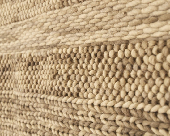 Apt2B.com - Gratton Area Rug, 5x8 - Hand woven in India by artisan weavers, the Gratton Area Rug is made from 100% New Zealand wool and combines a soft palate of greys, beige, brown and ivory earth tones into a series of beautiful knotted patterns. These designs will bring an organic textured look to any room, while providing a warm, yet neutral and understated elegance to your home.