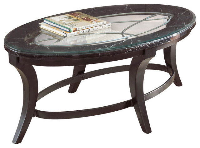 steve silver cayman 48x28 cocktail table w 8mm tempered glass contemporary coffee tables. Black Bedroom Furniture Sets. Home Design Ideas