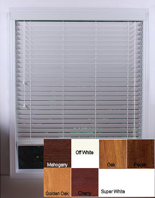 Customized 30-inch Real Wood Window Blinds contemporary-window-treatments
