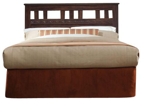 Standard Furniture Shaker Hall 5-Piece Headboard Bedroom Set in African Walnut traditional-bedroom-products