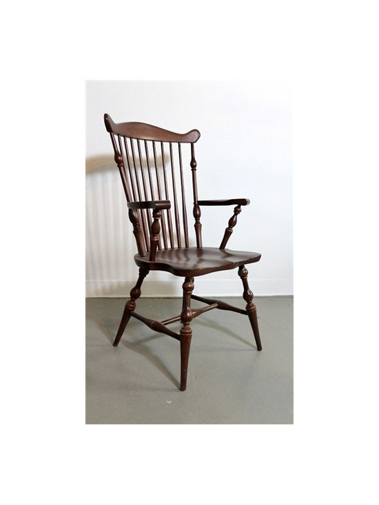 Amelia Junior Chair In Brown Cherry Finish - Made by http://www.ecustomfinishes.com