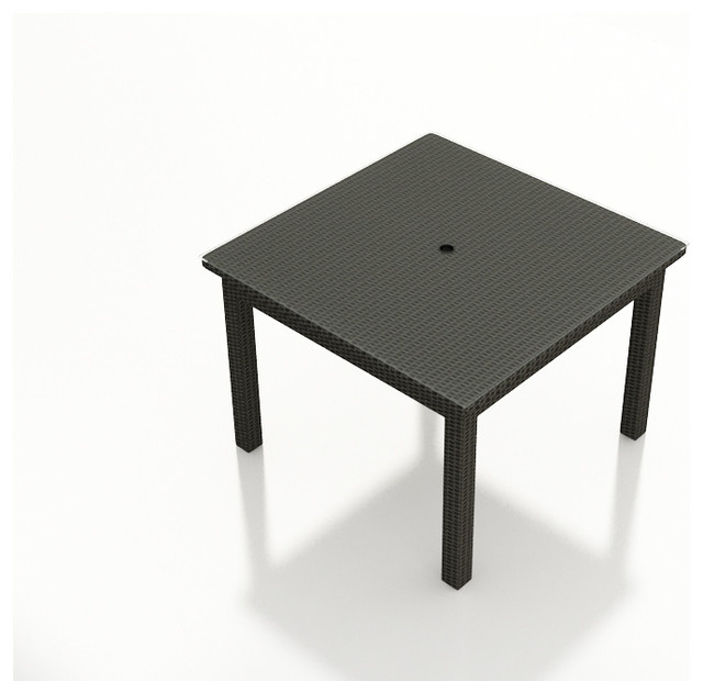 Barbados 48 in. Square Dining Table, Ebony Wicker modern-outdoor-tables
