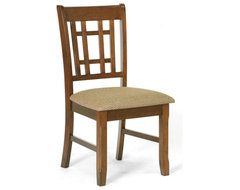 Baxton Studio Megan Brown Wood Modern Dining Chair (Set of 2) craftsman-dining-chairs