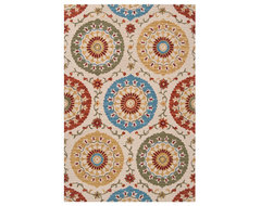 Surya Centennial Ivory Rectangle Area Rug contemporary-rugs