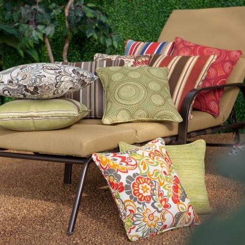 Atrium 14 x 16 Outdoor Toss Pillows - Set of 2 Evanwood Stripe Stone contemporary-outdoor-pillows