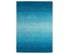 Peacock Ombre Stripe Rug contemporary rugs