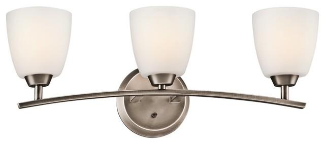 KICHLER 45360BPT Granby Transitional Bathroom / Vanity Light contemporary-bathroom-vanity-lighting