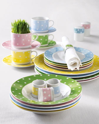50-Piece Dot Dinnerware traditional dinnerware