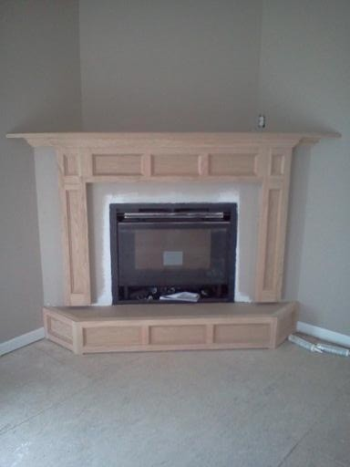Corner fireplace traditional indoor fireplaces new for Indoor corner fireplace