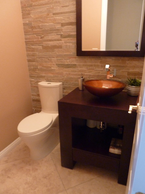 Powder bath remodel contemporary powder room las vegas - Powder room remodel ideas ...