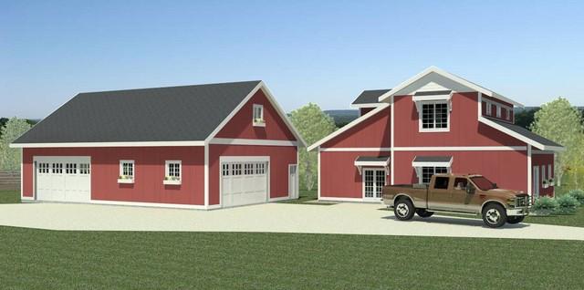 Barn Garage Addition : Highland barn house garage addition opotion