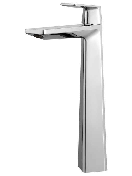 Kraus - Kraus KEF-15300CH Aplos Single Lever Vessel Bathroom Faucet Chrome - Give your bathroom a style upgrade with the Aplos single lever