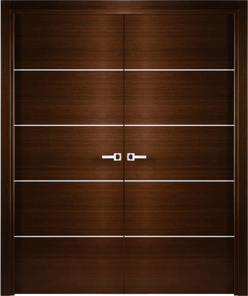 Contemporary italian wenge interior double door with for Interior double doors