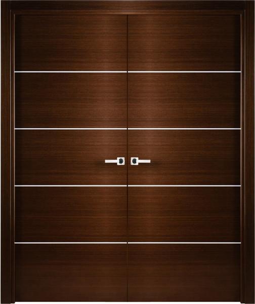 Contemporary italian wenge interior double door with for Decorative interior doors