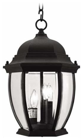 Kingston Black Outdoor Lantern traditional-outdoor-lighting
