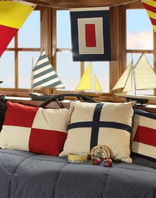 Signal Flag Décor, W Flag traditional-home-decor