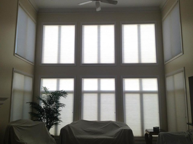 Motorized Honeycomb Shades Chesterfield Two Blind Guys Hunter Douglas Traditional Cellular