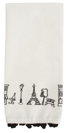 Parisian Icons Kitchen Towel contemporary-dish-towels