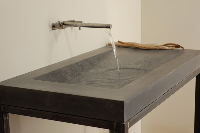 Concrete Alpine Sink Modern Bathroom Sinks miami
