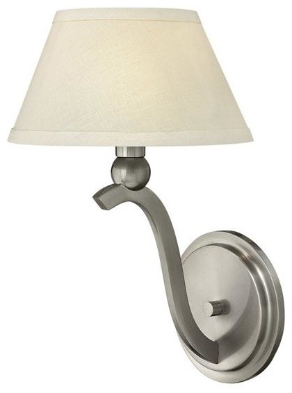 Hinkley Lighting 4610BN 1 Light Sconce Whitney Collection traditional-wall-sconces