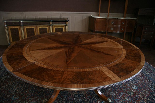 Round Mahogany Pedestal Dining Table With Expandable  : traditional dining tables from www.houzz.com size 640 x 426 jpeg 71kB