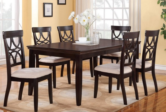 poundex furniture 7 piece dining room set f2199 f1221