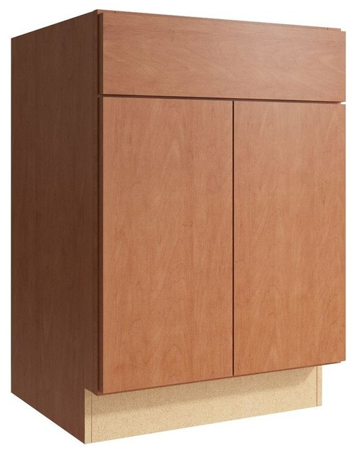Cardell Cabinets Fiske 24 in. W x 34 in. H Vanity Cabinet Only in Caramel - Contemporary ...
