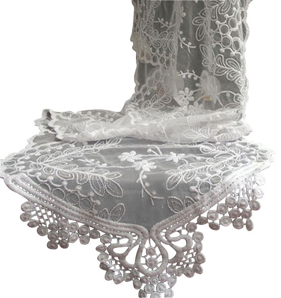 White Lace Table Runner traditional-table-runners