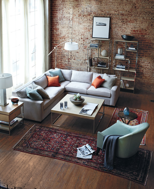 At Bloomingdales: Mitchell Gold + Bob Williams Carson Sectional contemporary sectional sofas