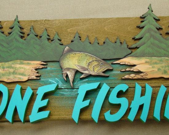 """Gone Fishin' - 27"""" by 15"""""""