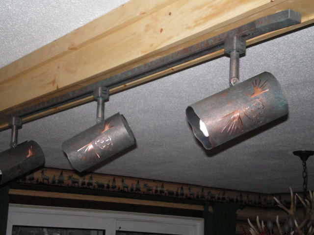Eller Log Cabin Rustic Lighting Calgary By Kiva