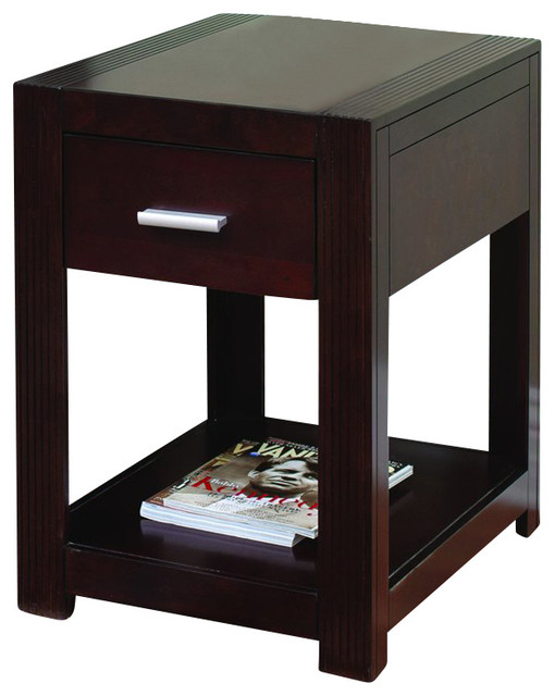 Martin Furniture Carlton Space Saver Table In Bourbon Transitional Side Tables And End