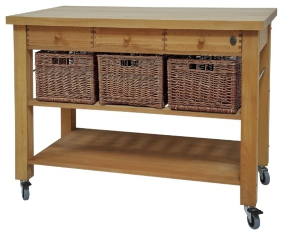 Lambourne Butcher's Trolley traditional-kitchen-islands-and-kitchen-carts