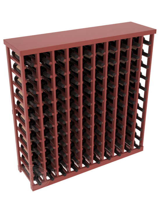 Wine Racks America® - Commercial Wine Rack RetailEDGE™ Standard Base with Solid Top, Cherry Stain + Sa - The Standard Base with the solid top option holds up to 110 bottles. These racks are made to secure and safely store each bottle while providing adequate breathing room. With this solid Ponderosa pine top option, 13 beautiful stain & finish combination choices, these racks will be sure to shine in your wine retail setting. The solid top increases storage space for holding more bottles, cases, or sale advertisements. Additional tops are also available and can be interchanged with ease. Increase your bottom line today with RetailEDGE Series ™.