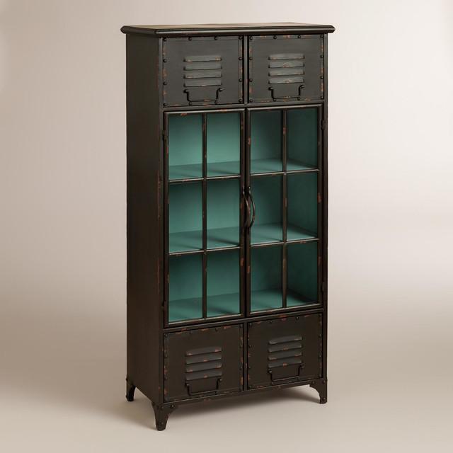 World Market Furniture Reviews: Kiley Metal Locker Cabinet