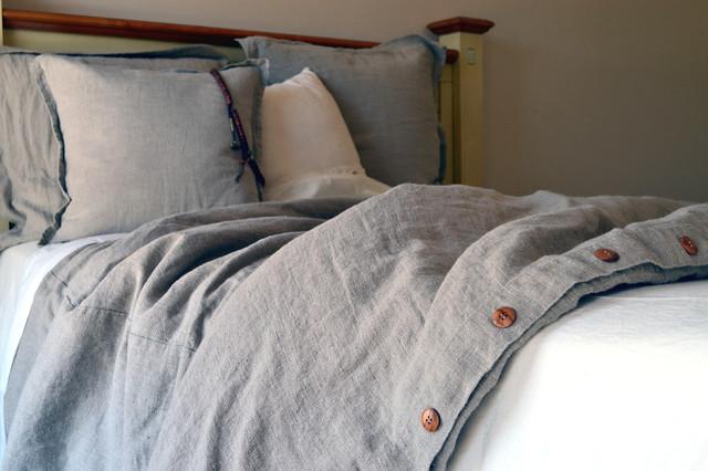 natural rustic rough heavy weight linen duvet cover