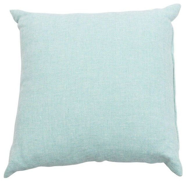Pre-owned Light Teal Throw Pillow - Beach Style - Decorative Pillows - by Chairish