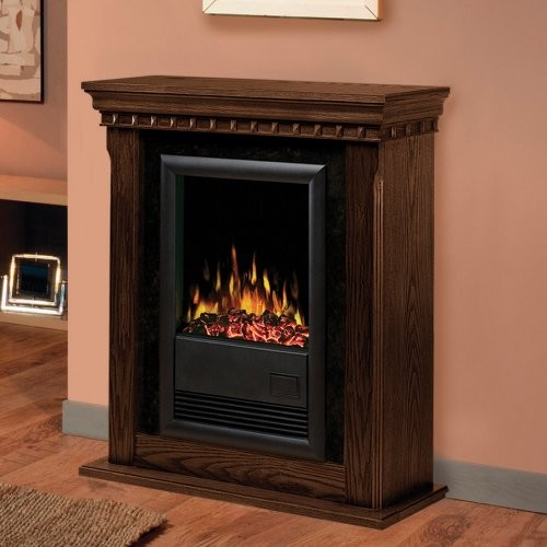 Dimplex Bravado II Nutmeg Electric Fireplace contemporary-indoor-fireplaces