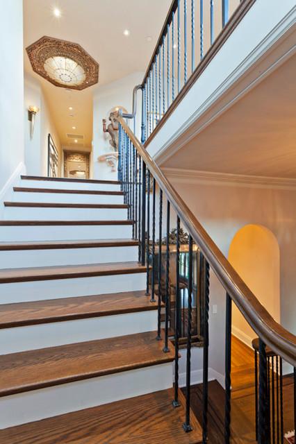 Monte Sereno Historical Mediterranean traditional-staircase