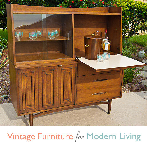 Vintage Broyhill Sculptra Dining Hutch/Bar - China Cabinets And Hutches - other metro - by ...